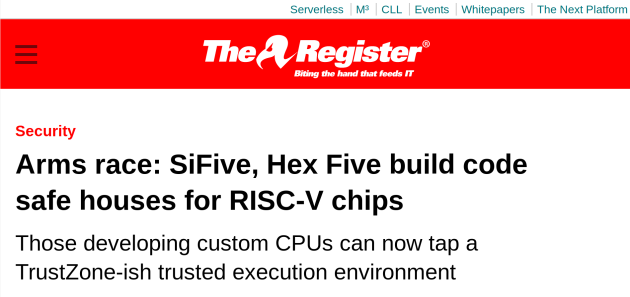 RISC-V security: First piece of the puzzle falls into place