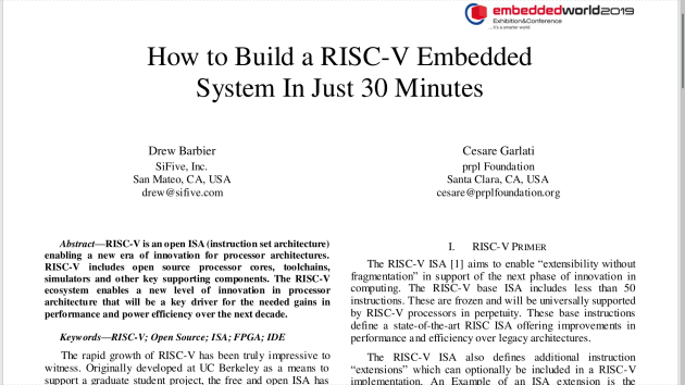How to Build a RISC-V System In Just 30 Minutes